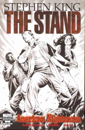 The Stand American Nightmares #1 Perkins Retail Sketch Variant 1:75 (2009) Stephen King Marvel comic